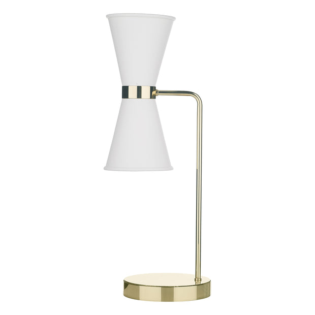 David Hunt Hyde HYD4202 Artic White Table Lamp Complete With Brass Inners