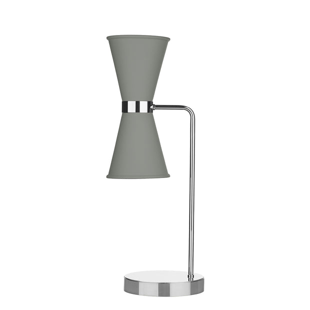 David Hunt Hyde HYD4239C Powder Grey Table Lamp Complete With Chrome Inners
