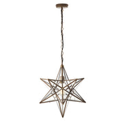 Dar Ilario ILA8675 Large Single Star Pendant In Antique Brass Finish
