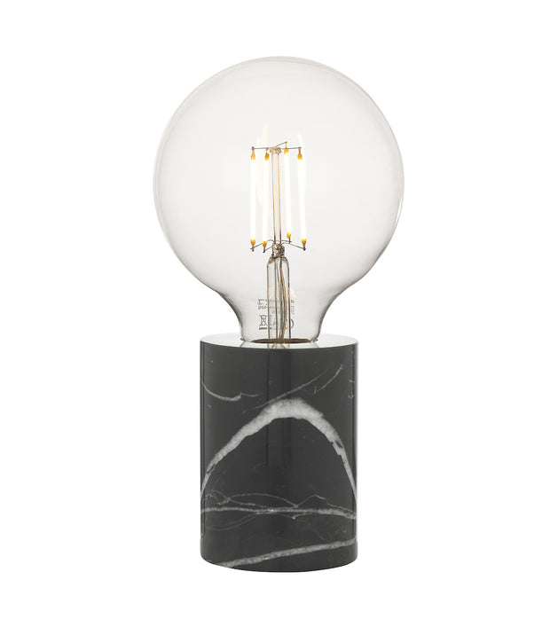 Dar Jaxon JAX4122 Table Lamp In Black Marble Finish