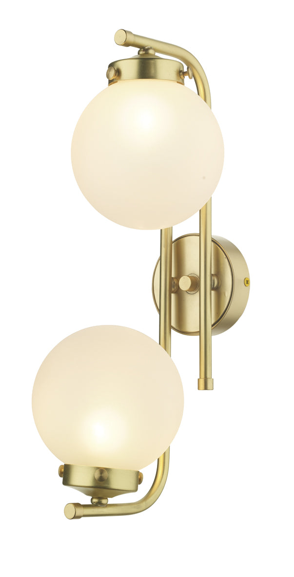 David Hunt JAZ0940 Butter Brass 2 Light Wall Light