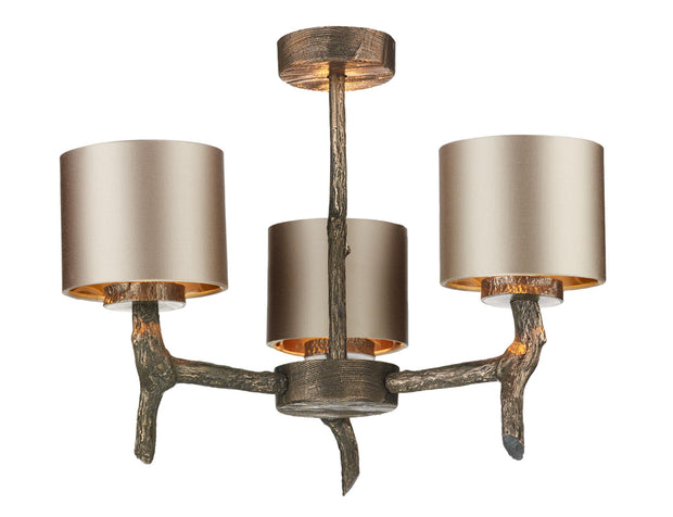 David Hunt Joshua JOS0399 3 Light Pendant Complete With Shades - (Specify Shade Colour)