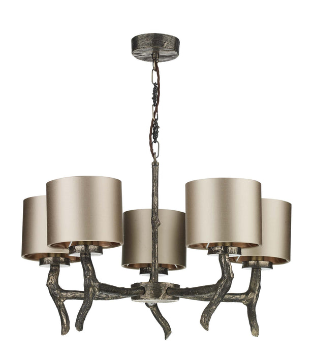 David Hunt Joshua JOS0599 5 Light Pendant Complete With Shades - (Specify Shade Colour)