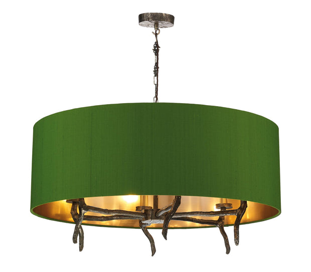 David Hunt Joshua JOS0699 6 Light Pendant Complete With Shade - (Specify Shade Colour)