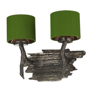 David Hunt Joshua JOS0999 Double Wall Light Complete With Shades - (Specify Shade Colour)
