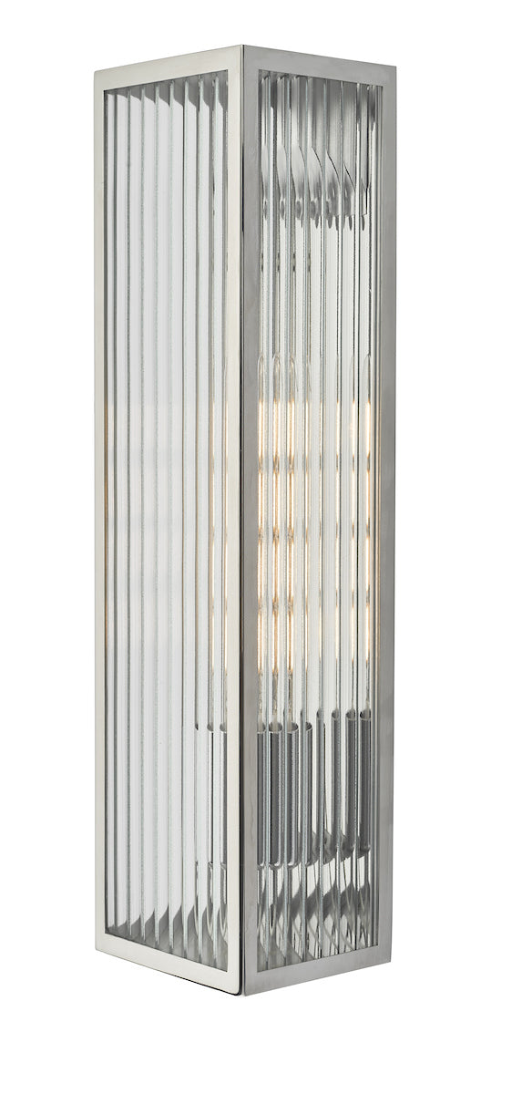 Dar Keegan KEE5044 Exterior Single Wall Light In Polished Stainless Steel Finish - IP44