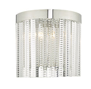 Dar Lorant LOR0908 2 Light Wall Light In Polished Chrome & Glass Finish
