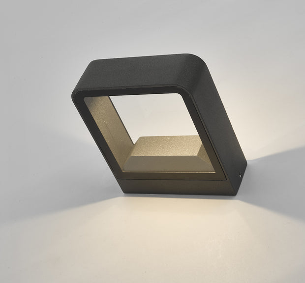 Dar Malone MAL3239 Exterior LED Wall Light Square In Anthracite Finish - IP65