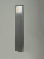 Dar Malone MAL4539 Exterior LED Post With Square Light In Anthracite Finish - IP65
