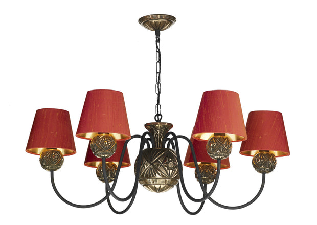 David Hunt Novella NOV0663 Facetted Bronze 6 Light Chandelier- Fitting Only