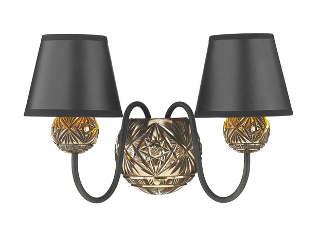 David Hunt Novella NOV0963 Facetted Bronze Double Wall Light - Fitting Only