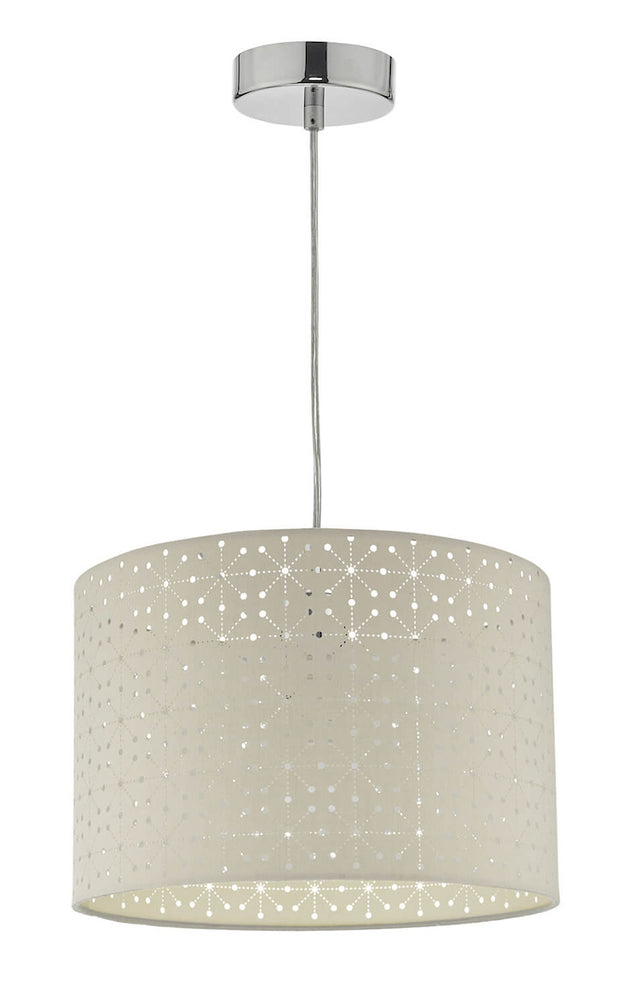 Dar Nydia NYD6539 Grey Easy Fit Pendant