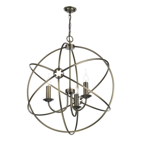 David Hunt Orb ORB0375 Antique Brass 3 Light 600mm Pendant
