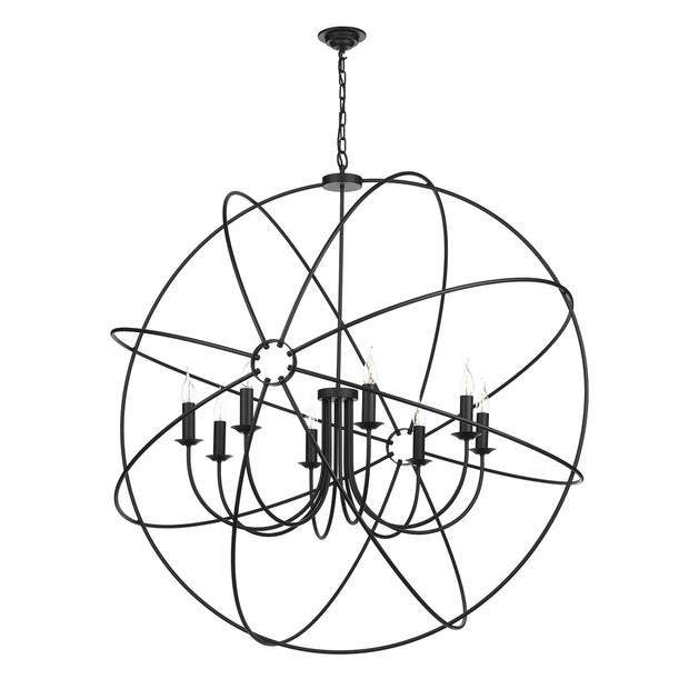 David Hunt Orb ORB0822 Black 8 Light 1200mm Pendant