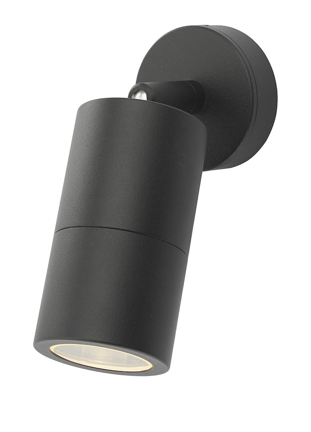 Dar Ortega ORT0722 Exterior Single Wall Light In Matt Black Finish - IP65