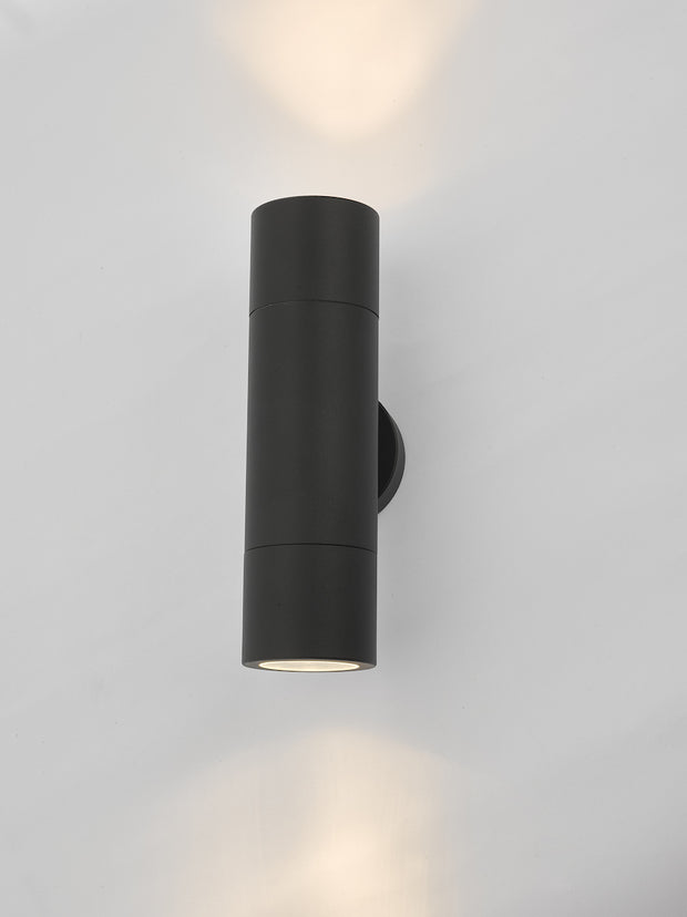 Dar Ortega ORT3222 Exterior 2 Light Wall Light In Matt Black Finish - IP65