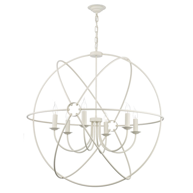 David Hunt Orb ORB0633 Cream 6 Light 900mm Pendant