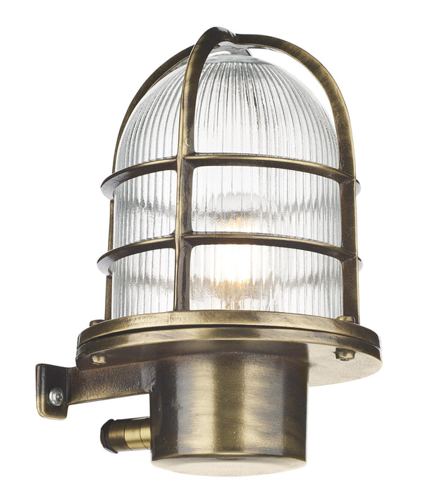 David Hunt Pier PIE1675 Antique Brass Exterior Wall Light - IP64