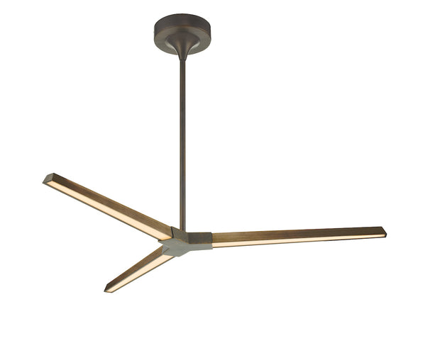 Dar Rotor ROT0363 3 Light LED Pendant In Antique Bronze & Mottled Bronze Finish