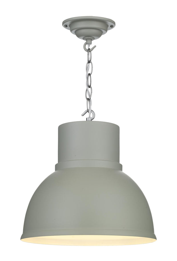 David Hunt Shoreditch SHO0139 Powder Grey Small Single Pendant