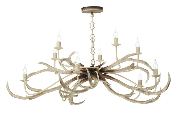 David Hunt Stag STA2315 Bleached 10 Light Pendant