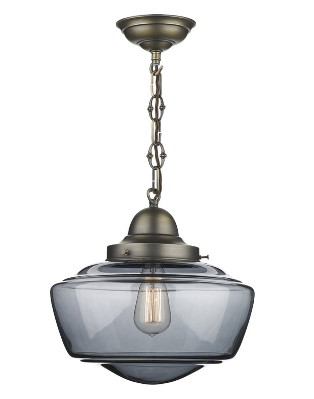 David Hunt Stowe STO0110 Smoked Glass Single Pendant Light
