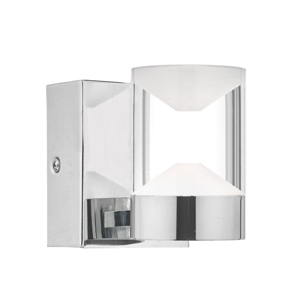 Dar Susa SUS0750 LED Wall Light In Polished Chrome & Acrylic - IP44