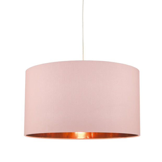Dar Timon TIM6503 Easy Fit Pendant Shade Pink With Copper Lining