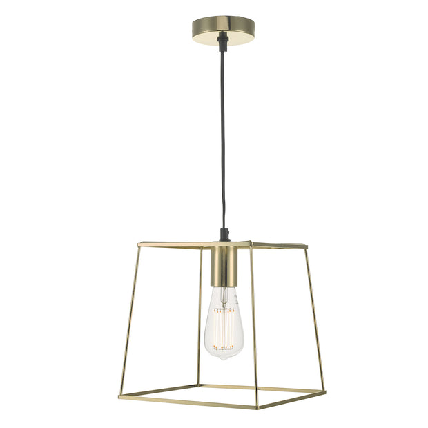 Dar Tower TOW0135 Single Pendant In Polished Gold Finish