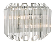 Dar Tuvalu TUV0908 2 Light Wall Light In Polished Chrome & Glass Finish