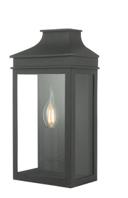Dar Vapour VAP5222 Exterior Coach Lantern Single Wall Light In Matt Black Finish - IP44