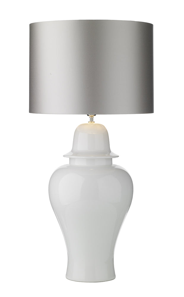 David Hunt Vaughn VAU4302 Large Gloss White Table Lamp - Base Only