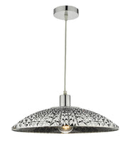 Dar Yatima YAT6510 Easy Fit Shade In Chrome Mirrored Textured Acrylic Finish