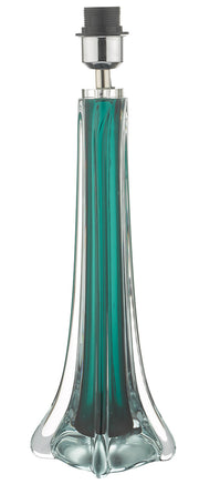 Dar Yoshi YOS4224 Table Lamp In Green & Clear Glass Finish Base Only