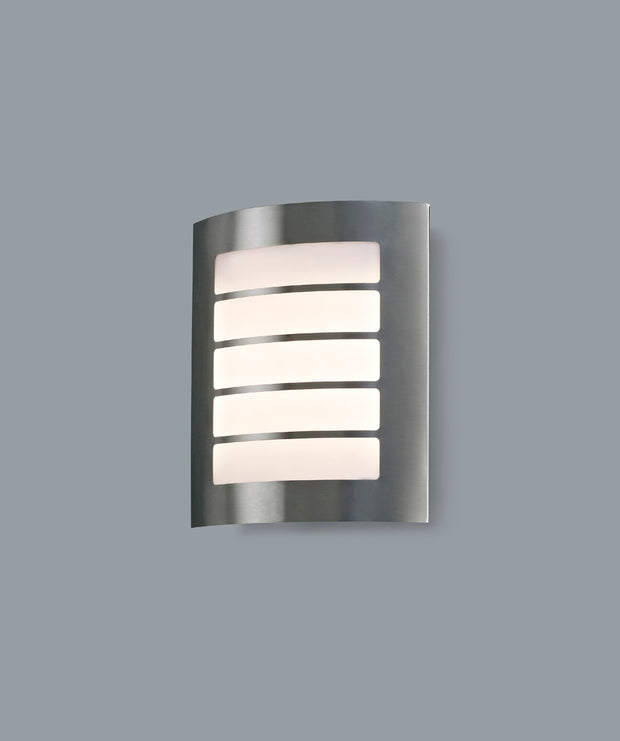 Deco Allegra D0263 Stainless Steel LED Exterior Wall Light - IP44 4000K