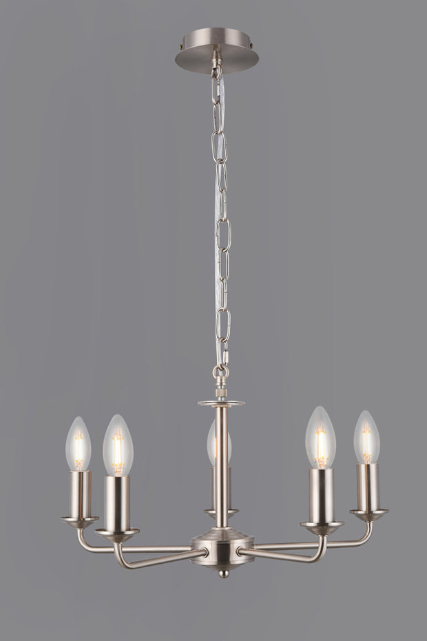 Deco Banyan D0359 Satin Nickel 5 Light Pendant