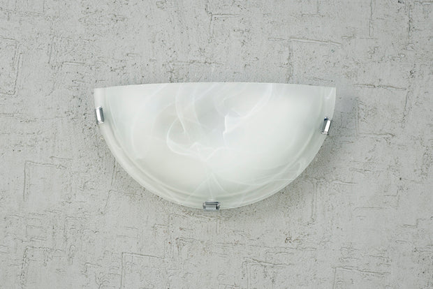 Deco Chester D0388 Polished Chrome 1 Light Wall Light With Frosted Alabaster Glass