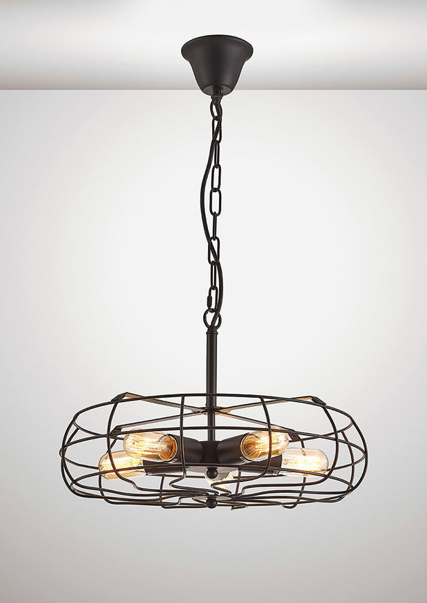 Deco Claudia D0135 Black 5 Light Pendant