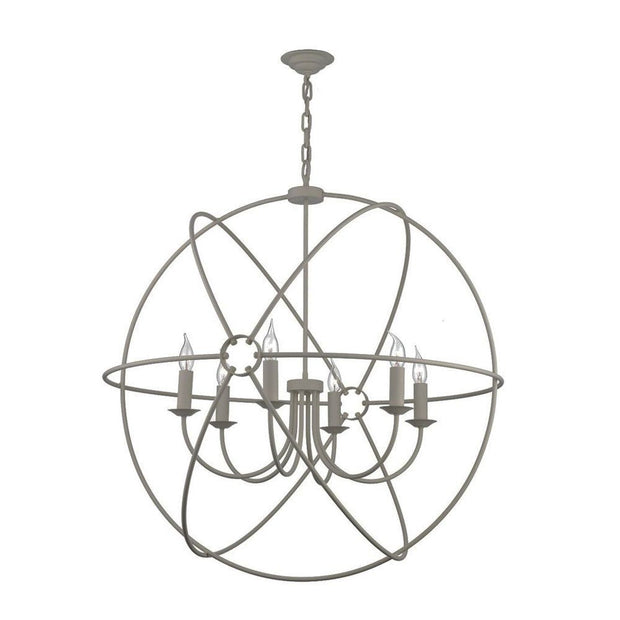 David Hunt Orb ORB0639 Ash Grey 6 Light 900mm Pendant
