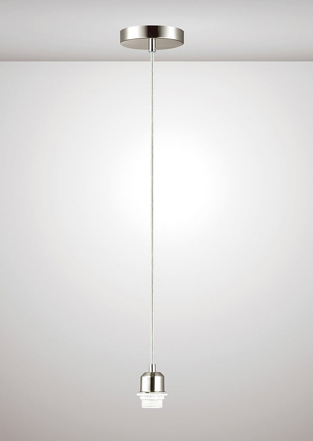 Deco Dreifa D0179 Satin Nickel With Clear Cable Ceiling Suspension Kit