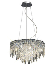 Diyas Maddison IL30254 Polished Chrome 6 Light Crystal Pendant