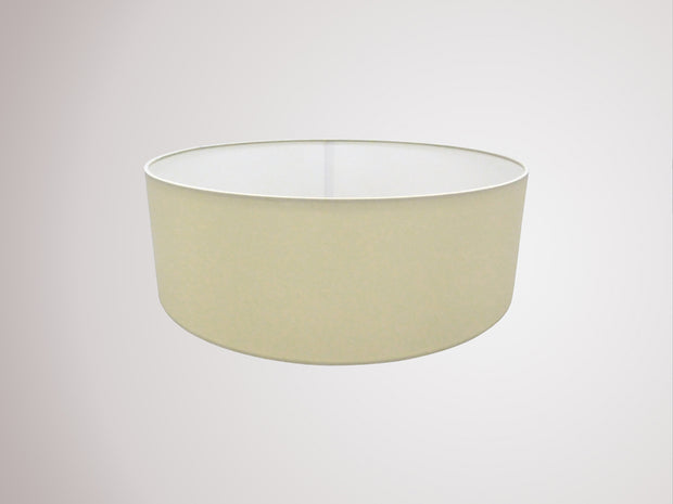 Deco Serena D0310 45cm Ivory Pearl Faux Silk Fabric Drum Shade With White Laminate Inner