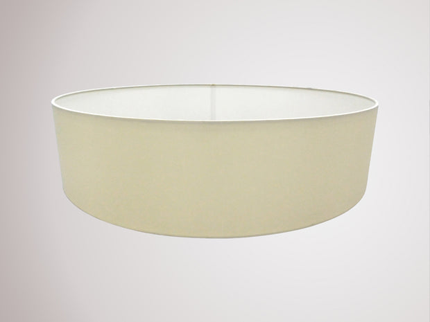 Deco Serena D0311 60cm Ivory Pearl Faux Silk Fabric Drum Shade With White Laminate Inner