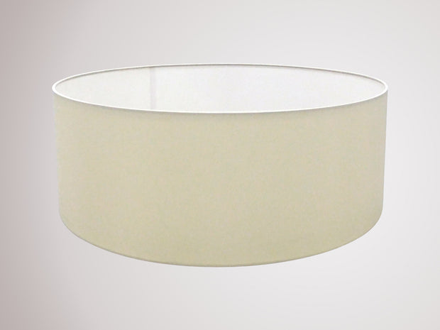Deco Sigma D0276 60cm Ivory Pearl Faux Silk Fabric Shade With White Laminate Inner