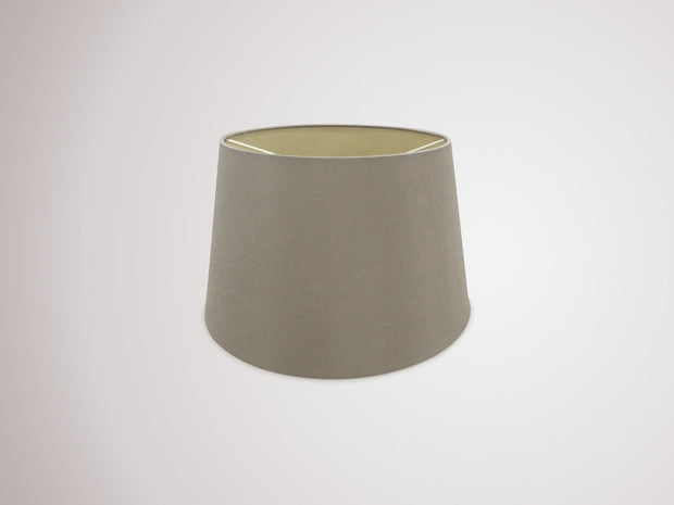 Deco Sutton D0306 35cm Taupe Faux Silk Fabric Shade With Halo Gold Inner