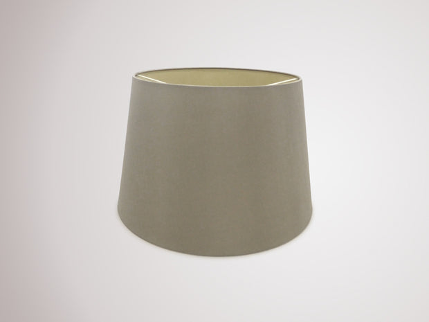 Deco Sutton D0307 40cm Taupe Faux Silk Fabric Shade With Halo Gold Inner