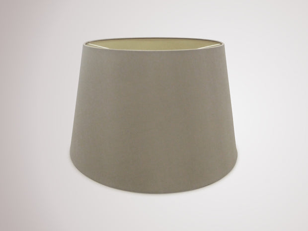 Deco Sutton D0308 45cm Taupe Faux Silk Fabric Shade With Halo Gold Inner