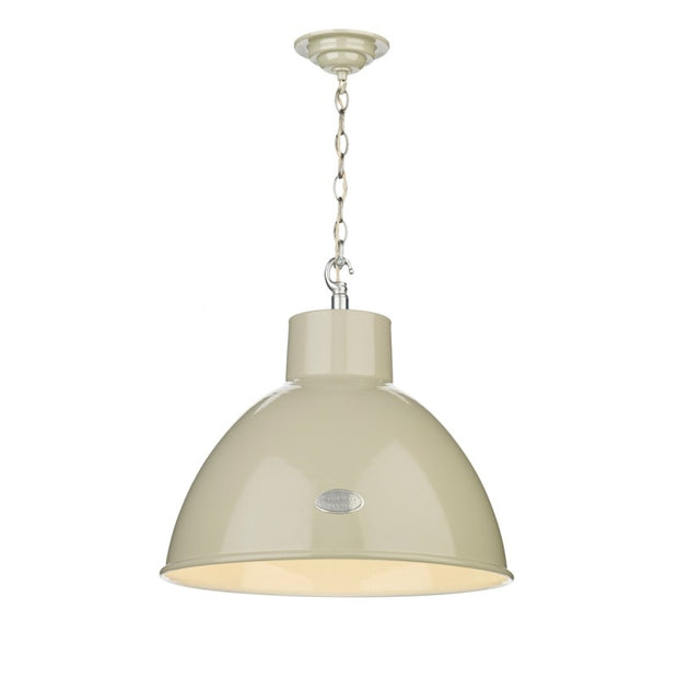 David Hunt Utility UTI012 Large French Cream Single Pendant Light