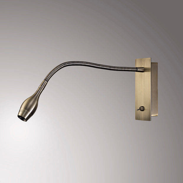 Deco Winslow D0183 Antique Brass LED Flexible Wall Light