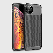 Load image into Gallery viewer, Carbon Fiber Silicone Case For IPHONE